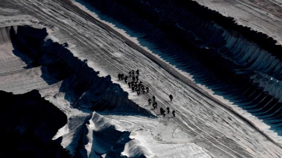 The protesters ignored warnings from the police and the energy company as they descended into the mine.