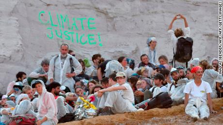 Hundreds of Climate Protesters Block the German Coal Mine