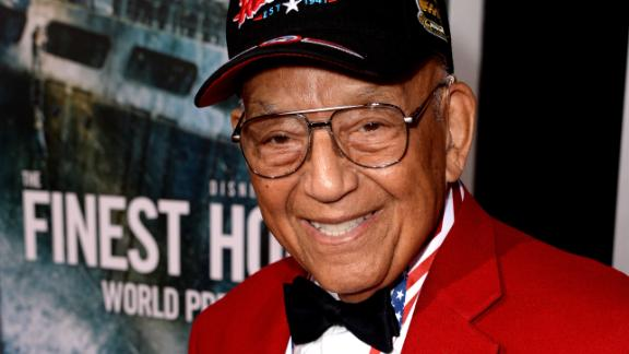 Robert Friend, one of the original members of the famed Tuskegee Airmen, at the premiere of Disney