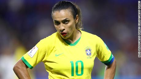 Marta used her post-match interview to inspire the next generation of stars.