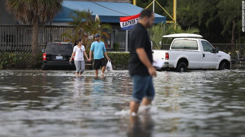 Even on sunny days, Miami is seeing flooding caused by the lunar orbit, which causes seasonal high tides, and what some scientists believe is rising sea levels due to climate change.