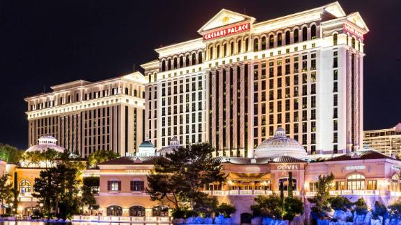 LAS VEGAS, NEVADA - MAY 29: Caesars palace hotel on May 29, 2015 in Las Vegas, Nevada,USA. Caesars palace is a luxurious hotel famous with its fountains and shops