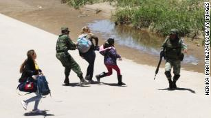 The other photo that shows what's happening now at the border