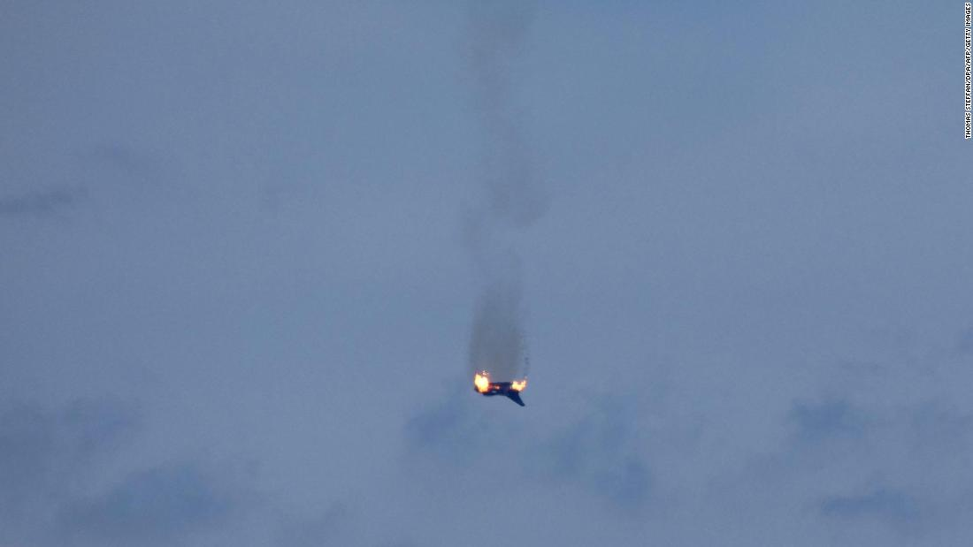 Two Eurofighter jets crashed in Germany, killing one pilot