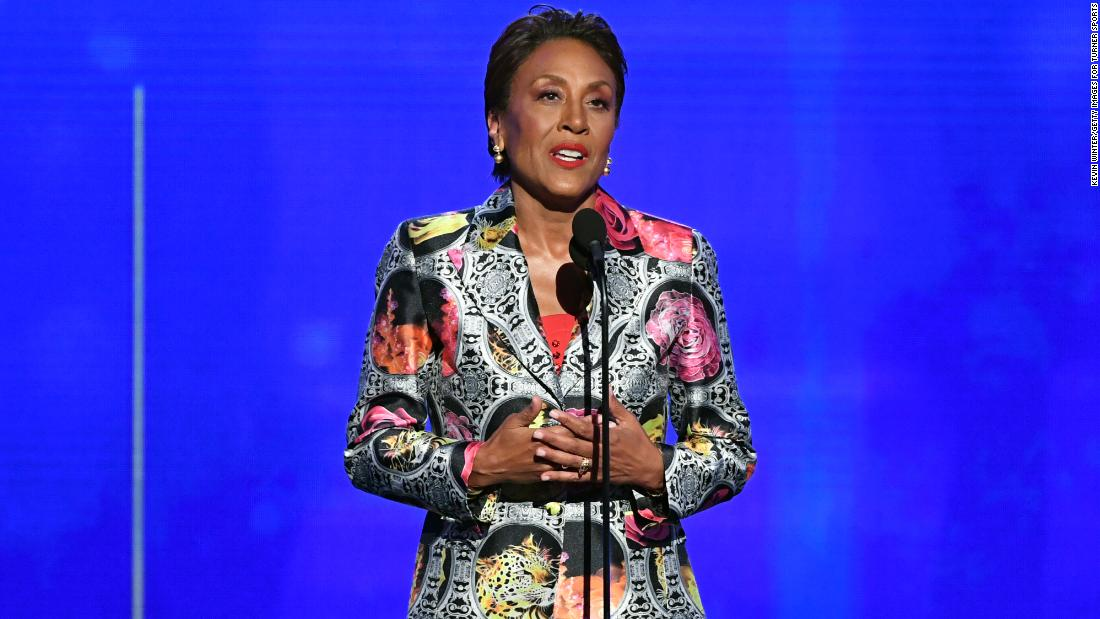 Here's why Robin Roberts took home the NBA's Sager Strong Award