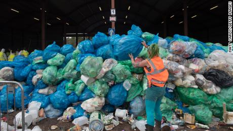 The festival has a purpose-built recycling center to process litter from its 135,000 guests.
