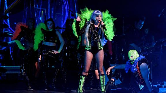 Lady Gaga performs onstage during SiriusXM + Pandora Present Lady Gaga At The Apollo on June 24, 2019 in New York City. (Photo by Kevin Mazur/Getty Images for SiriusXM)