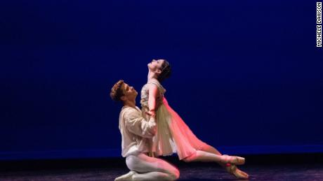 Kathryn Morgan dancing with partner Sean Rollofson in a guest performance before joining Miami City Ballet.