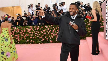 Frank Ocean at the 2019 Met Gala -- looking exactly like we do when he drops new music.