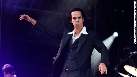 LONDON, ENGLAND - JUNE 03: (EDITORIAL USE ONLY) Nick Cave performs on stage at All Points East in Victoria Park on June 3, 2018 in London, England.  (Photo by Gus Stewart/Redferns)