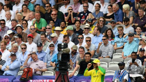 Australia's David Warner received some sledging from the home supporters.