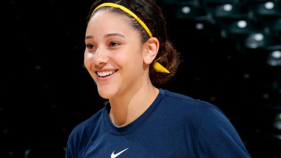 Natalie Achonwa of the Indiana Fever