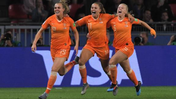 The Netherlands became the seventh European country to qualify for the last eight.