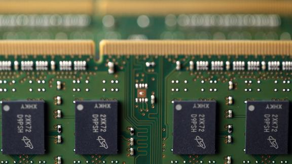 Micron chips seen in Tokyo. The company said Tuesday that it had resumed sending some of its products to Huawei after a review of its business with the Chinese firm.