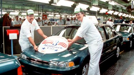 Honda produces its 3 millionth vehicle on January 21, 1993, a special Anniversary Accord model to commemorate 10 years of US auto production in Marysville, Ohio.
