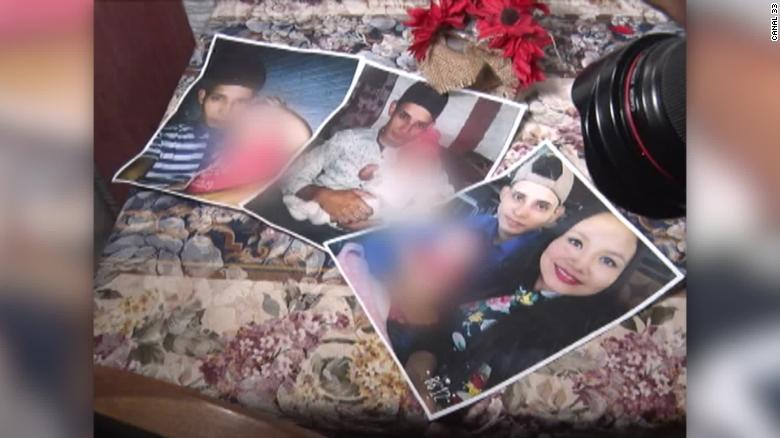 Oscar Alberto Martínez, his daughter, Angie Valeria, and his wife, Tania Avalos. His family showed these photos to reporters in El Salvador on Tuesday.