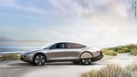 Yes, this car is solar-powered  But it still has a plug