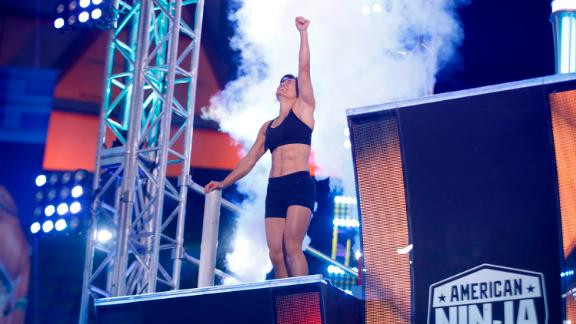 """Sandy Zimmerman, 42, beat the qualifier course on """"American Ninja Warrior"""" and became the first mother to do it."""