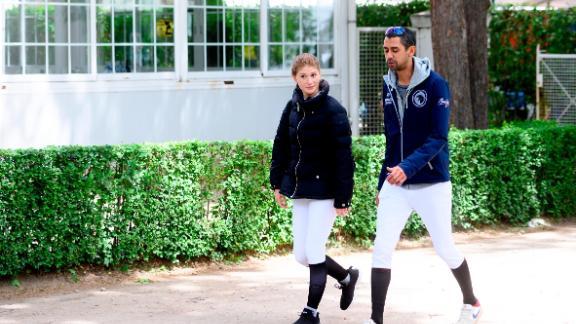 Gates and boyfriend Nayel Nassar support each other on tour.