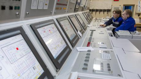 The control center of the Akademik Lomonosov floating nuclear platform.