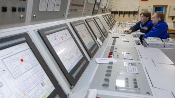 The control center of the Akademik Lomonosov floating nuclear platform.
