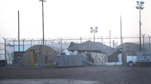 CLINT, TEXAS - JUNE 25: Tents stand at the U.S. Border Patrol station where lawyers reported that detained migrant children were held unbathed and hungry on June 25, 2019 in Clint, Texas. Nearly 100 children were sent back to the troubled facility today after it had been cleared of 249 children just days ago. Acting commissioner of U.S. Customs and Border Protection (CBP) John Sanders submitted his resignation in the wake of the scandal.  (Photo by Mario Tama/Getty Images)