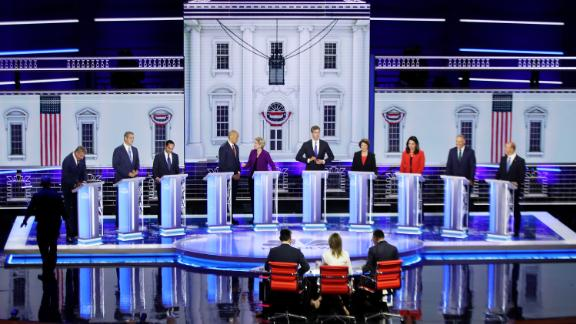 The candidates prepare for the start of Wednesday