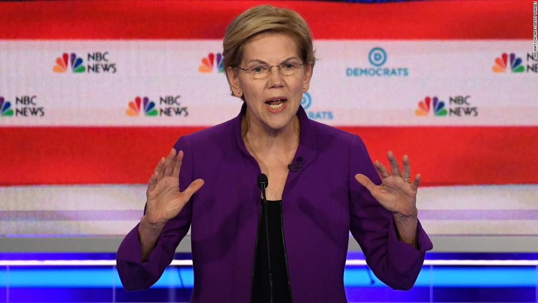 Elizabeth Warren doubles down on Medicare for All as dividing line sharpens in first Democratic debate