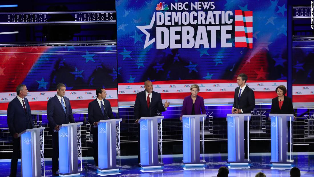 Democrats invoke a post-Trump America in first half of debate derby