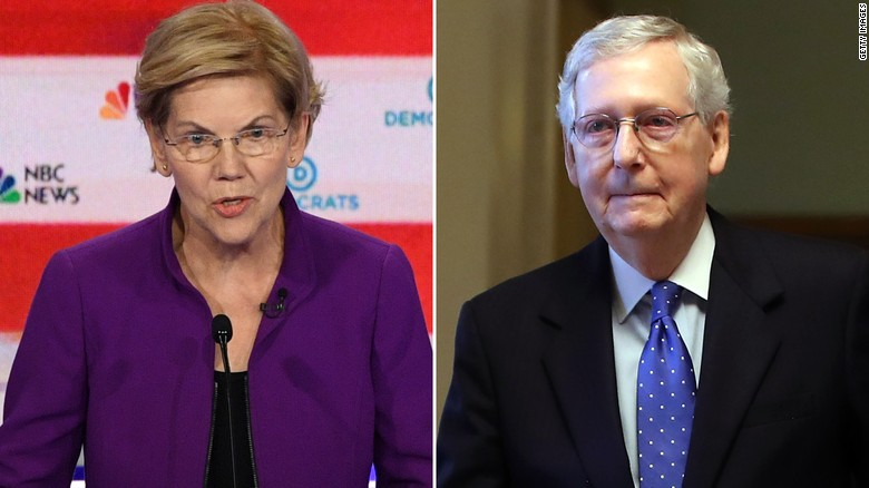 Warren says she has a plan to deal with Mitch McConnell