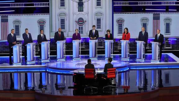 Democratic presidential debate on June 26, 2019 in Miami, Florida.