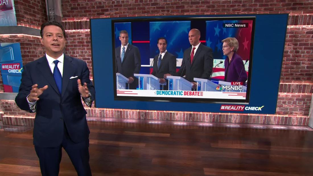 Breaking down the first Democratic debate by the numbers