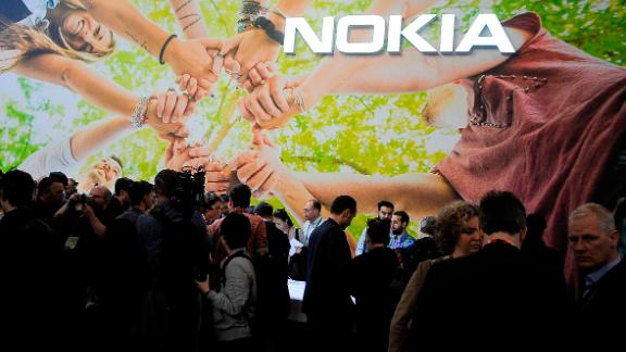BARCELONA, SPAIN - FEBRUARY 27: A general view of the Nokia stand during the Mobile World Congress, on February 27, 2017 in Barcelona, Spain. (Photo by Joan Cros Garcia/Corbis via Getty Images)