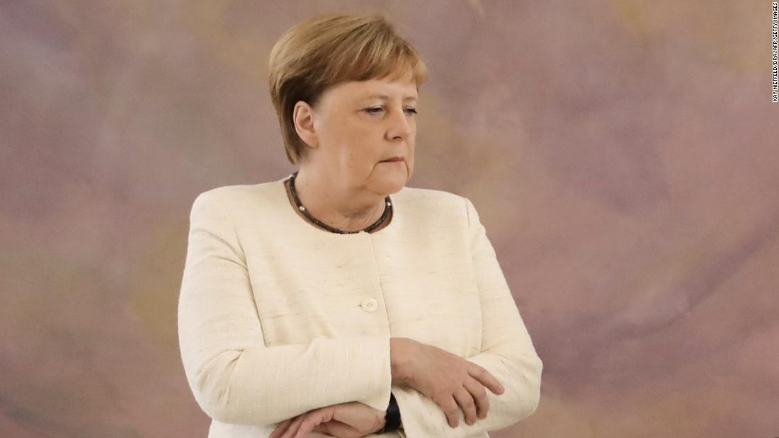 Angela Merkel seen shaking for third time in less than a month