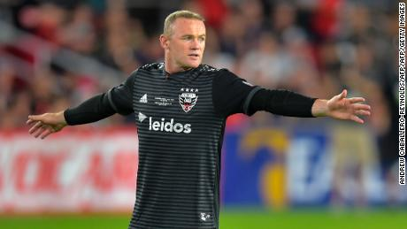 Wayne Rooney of DC United gestures during the DC United vs the Vancouver Whitecaps FC match in Washington DC on July 14, 2018. (Photo by ANDREW CABALLERO-REYNOLDS / AFP)        (Photo credit should read ANDREW CABALLERO-REYNOLDS/AFP/Getty Images)