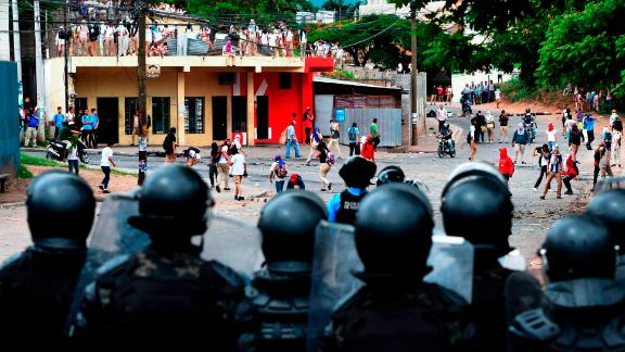The government has been accused of using heavy-handed tactics against protesters.