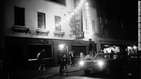 The scene outside the Stonewall Inn on July 2, 1969.