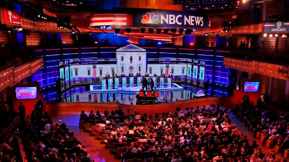 The opening volleys of the second debate offered an immediate contrast between the candidates