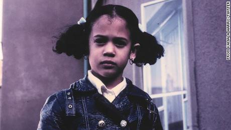 Sen. Kamala Harris tweeted this picture of herself as a young girl during the debate.