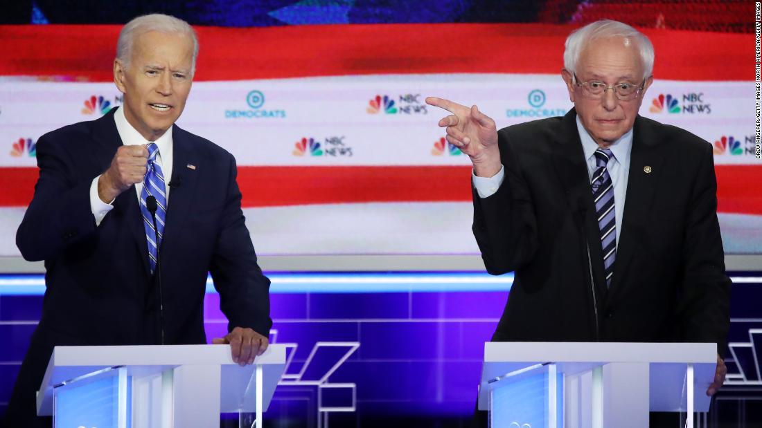 Biden, Sanders and Warren top 2020 Democratic field in New Hampshire