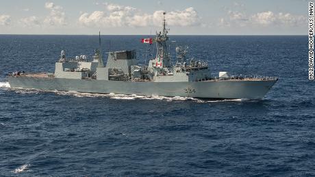 The Canadian frigate HMCS Regina