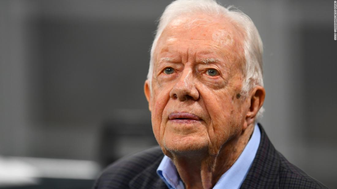 Jimmy Carter admitted to hospital for procedure to relieve pressure on his brain