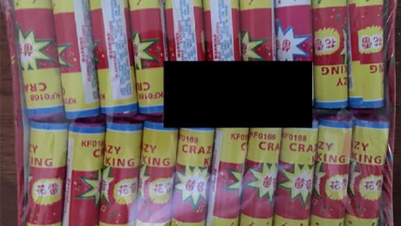 Crazy King Crackers are among the 25,000 fireworks that were recalled after a boy lost his hand.