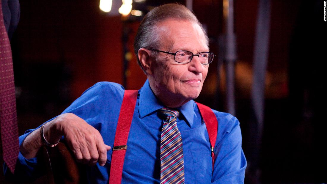 Larry King is seen on the set of his CNN show in November 2010.