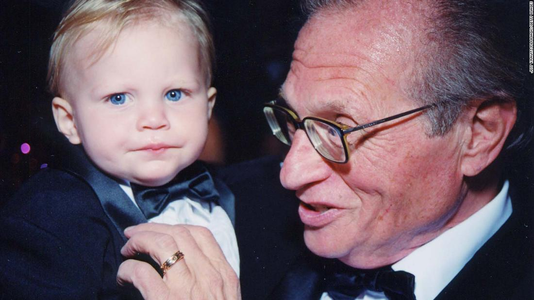 King and his son Chance attend a fundraiser for the Larry King Cardiac Foundation in 2000. Surviving heart problems, including several heart attacks and quintuple bypass surgery in 1987, led King to establish the Larry King Cardiac Foundation to help those without insurance afford medical treatment.