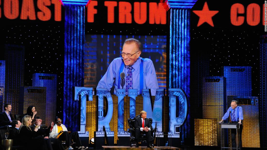 King takes part in a Comedy Central roast of Donald Trump in 2011.