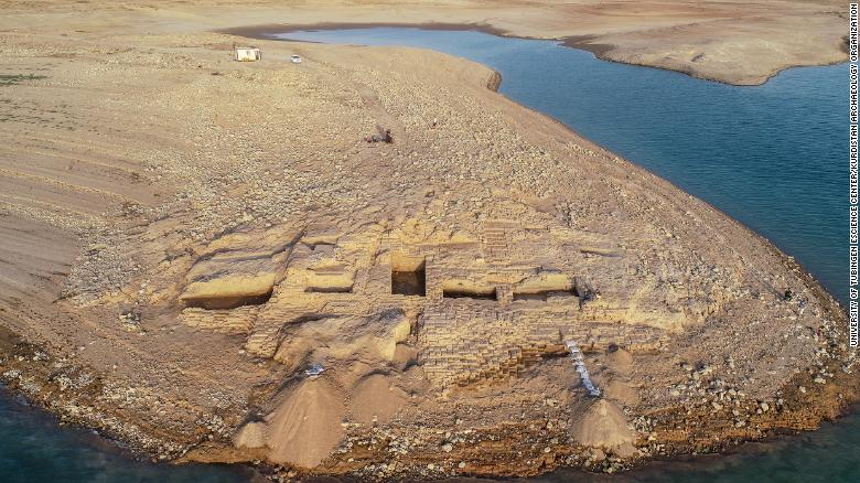 Ancient palace emerges from drought-hit Iraq reservoir