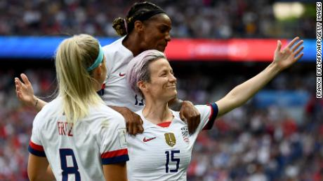 Rapinoe is now the World Cup's joint top-scorer