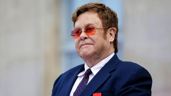 British singer-songwriter Elton John, pictured in June, has been awarded the Companion of Honour for services to music and charity.