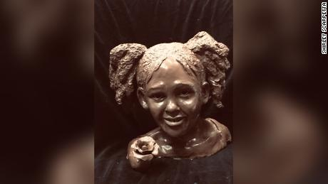 The sculpture of Maleah Davis will be cast in bronze and placed on a granite base for display.